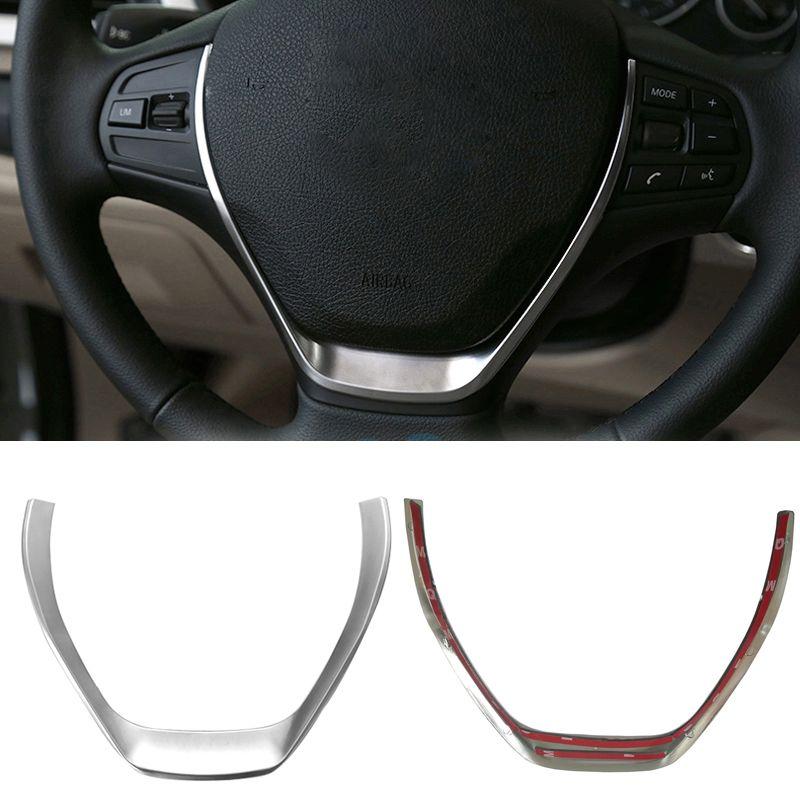 ABS chrome steering wheel trim decorative frame cover sticker interior accessories for BMW 1 3 Series F20 F30 F34 118i 320i 328i