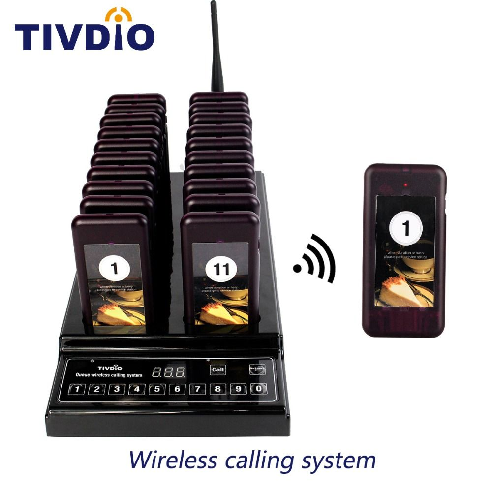 TIVDIO T-112 999 Channel 20 Call Coaster Pager Wireless Pager Queuing System Call Button Pager Restaurant Equipments F9402A