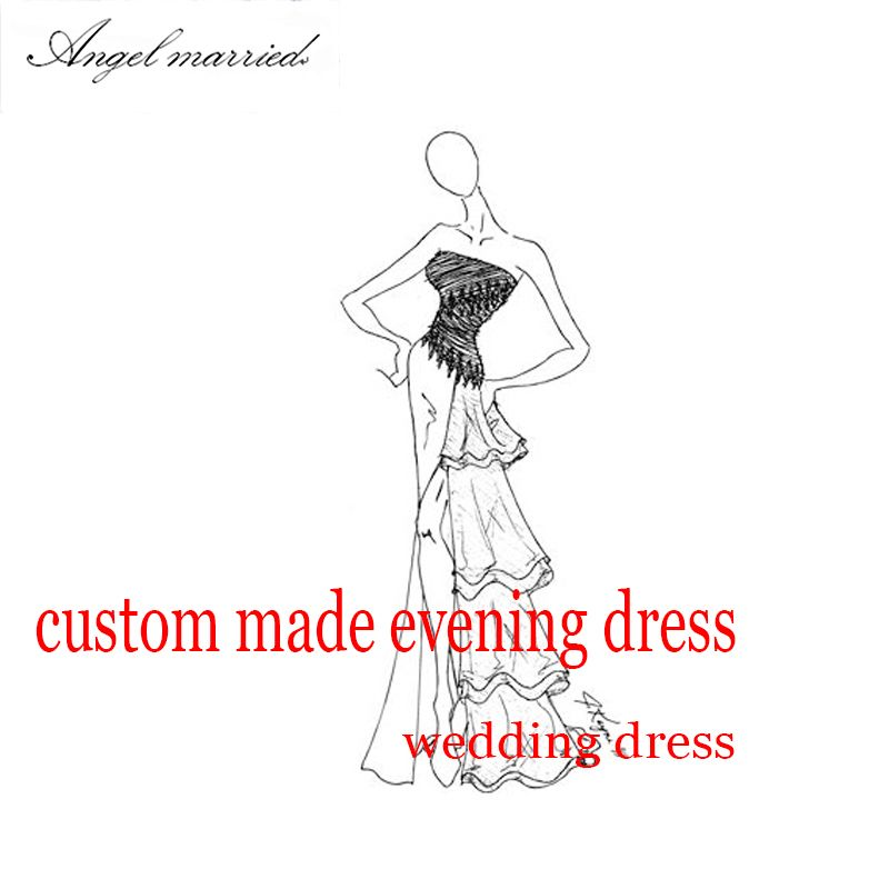 custom made evening dress prom dress formal party down