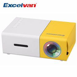 Excelvan YG300 портативный мини-проектор ЖК-дисплей проектор HDMI USB AV SD 400-600 люмен театр детей Образование Beamer Projetor