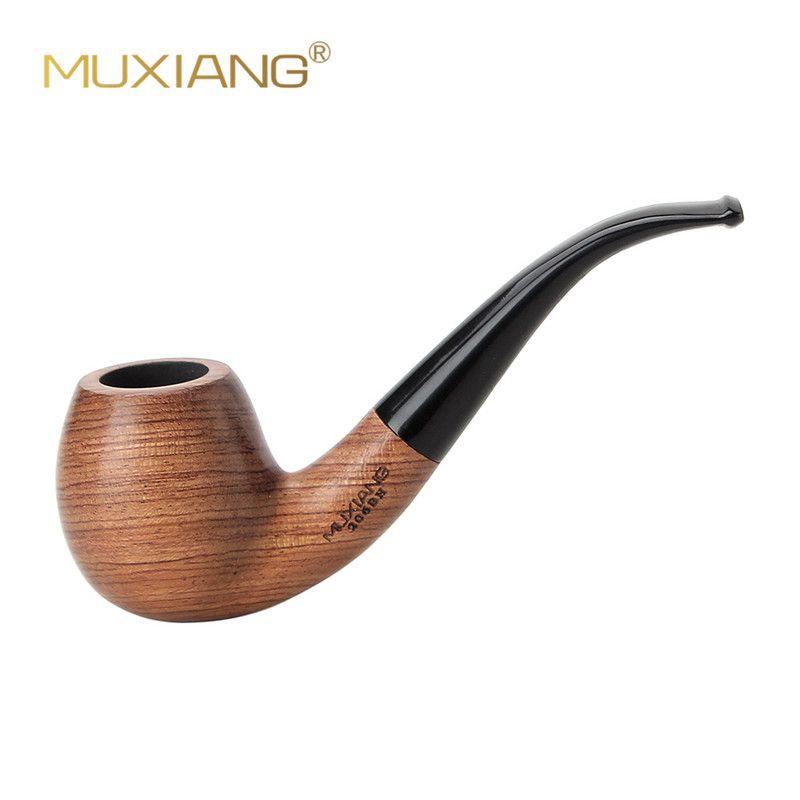 MUXIANG 10 outils Kit importé kevazingo bois tube de tabac en bois courbé pour fumer 9mm filtre bon pour la Collection des hommes ad0018