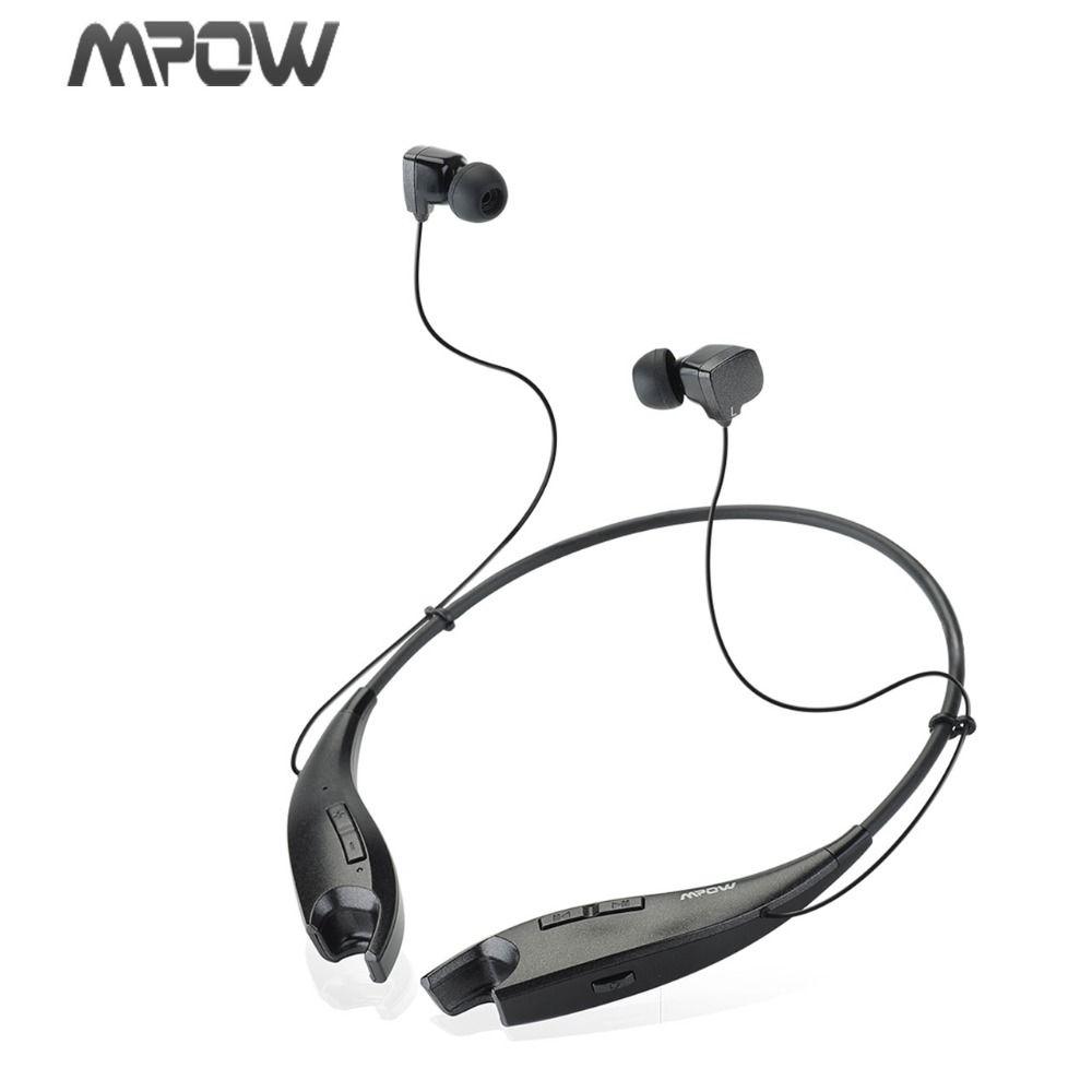 Mpow MBH25 Sans Fil Bluetooth 4.1 Stéréo Casque Universel Casque/Flexible et Lumière Cou Bande Conception Mains Libres Appelant