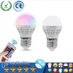 LED RGB Bola Lampu AC85-265V 220 V E27 6 W LED Spot Blubs tahap Lampu Malam Liburan RGB pencahayaan + IR Remote Control DIPIMPIN Lampu RGB