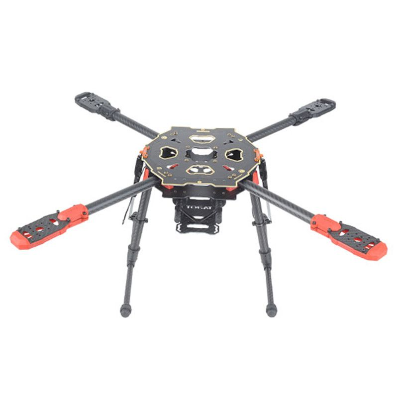Tarot 650 Sport Quadcopter Frame Four Axis Rack CF PCB Center Plate with Electric Folding Landing Gear Quadcopter FPV TL65S01