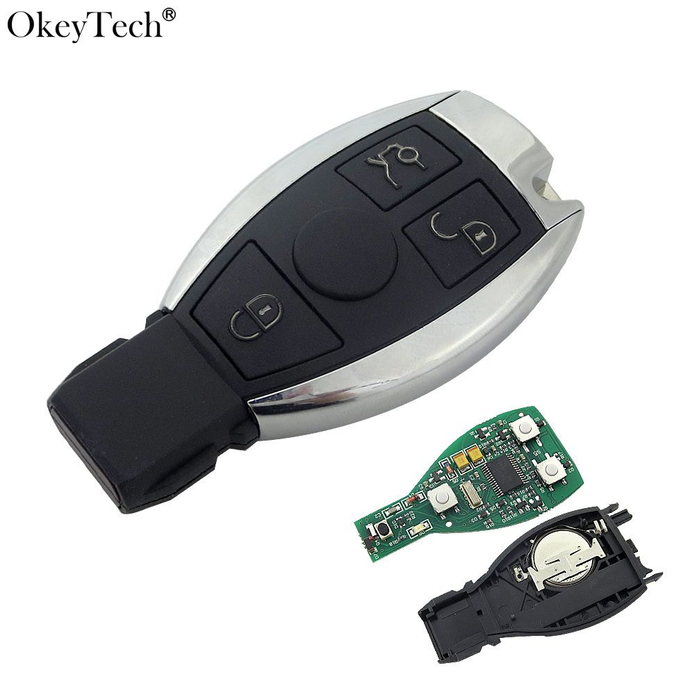 Okeytech New Keyless Entry Smart 3 Buttons Remote Key 433MHz 2004-2014 For Mercedes Benz 2000+ NEC&BGA Control D25