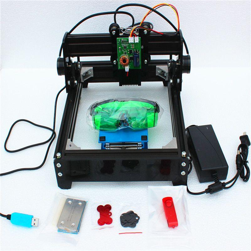 Assembled 15W laser 15000MW diy laser engraving machine 14*20cm metal engraver marking machine metal carving cnc router machine
