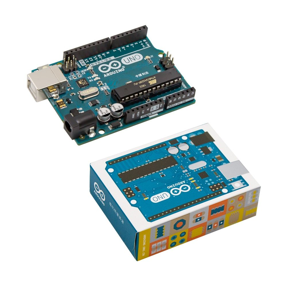 <font><b>1pcs</b></font> New and original UNO R3 ATMega328P Arduino UNO R3 ATMega328 Official Genuine with cable free shipping