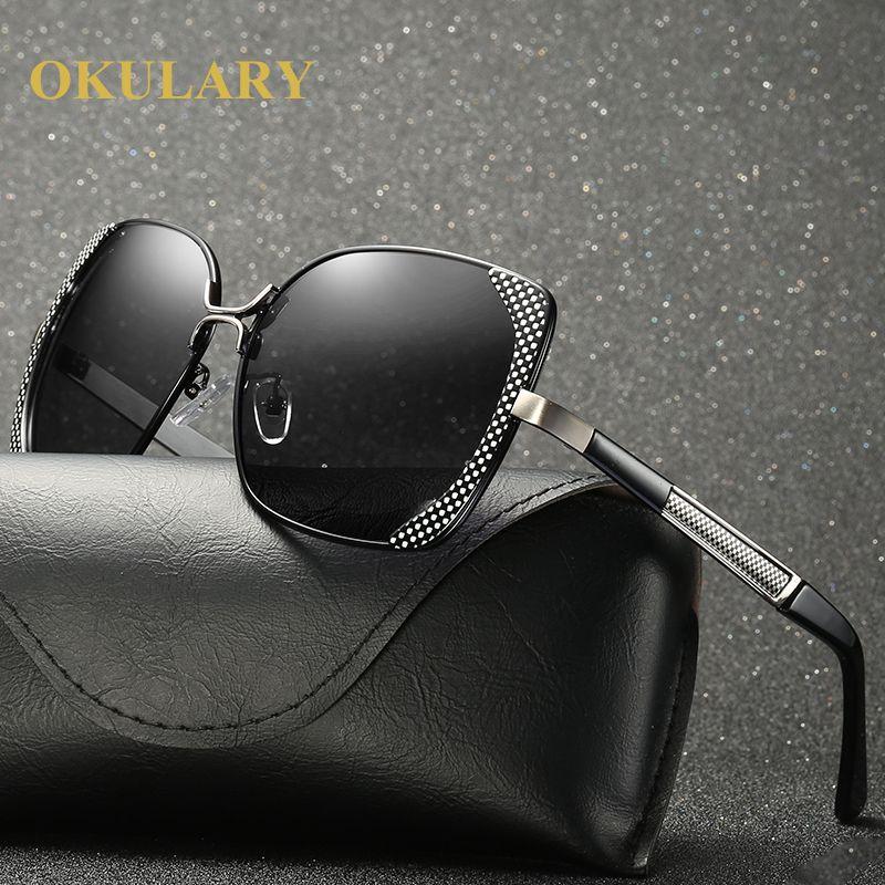 2018 Fashion Polarized Women Sunglasses Black/Brown Color UV400 Metal Frame Free Shipping