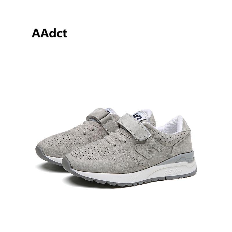 Aadct 2017 летняя брендовая спортивная детская sheoes Бег детская обувь для мальчиков кроссовки из нубука высокого качества обувь для девочек