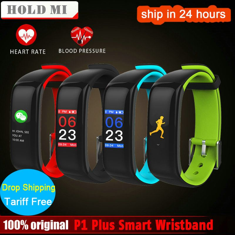 Halten Mi P1 Plus VS H1 Plus Smart band Bunte Fitness Armband herzfrequenz tracker Blutdruckmessgerät Armband Wasserdichte