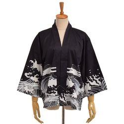 Женщины японского стиля легкое мужское кимоно пальто марочный Fly Дракон кимоно Спящий Хаори Халат
