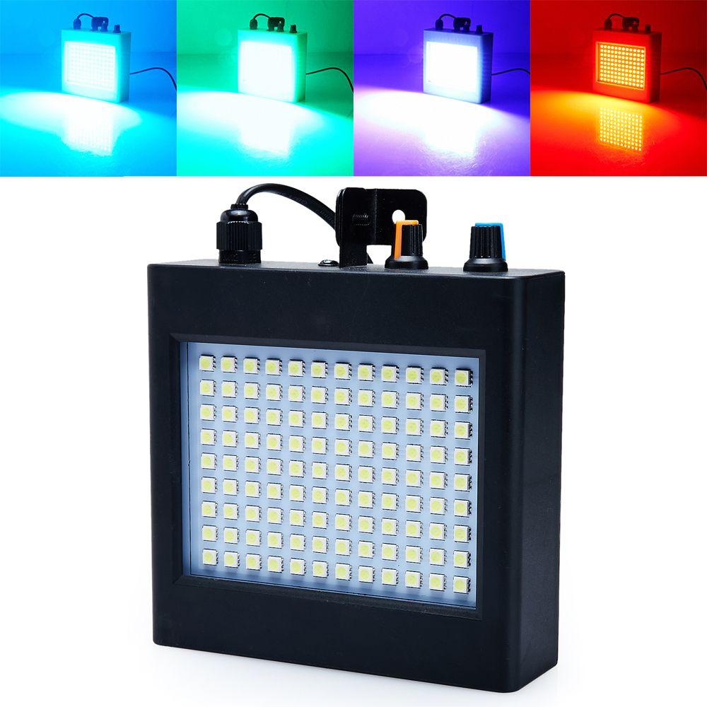 Mini contrôle du son Auto 108RGB LED Disco partie DJ Bar lumière LED Stroboscope spectacle de musique projecteur scène effet d'éclairage noir