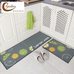[Byetee] Karpet untuk Dapur Lantai Pintu Tikar Outdoor Tikar Karpet Kamar Mandi Tahan Air Kaki Cushion Home Mat Tapete Keset karpet