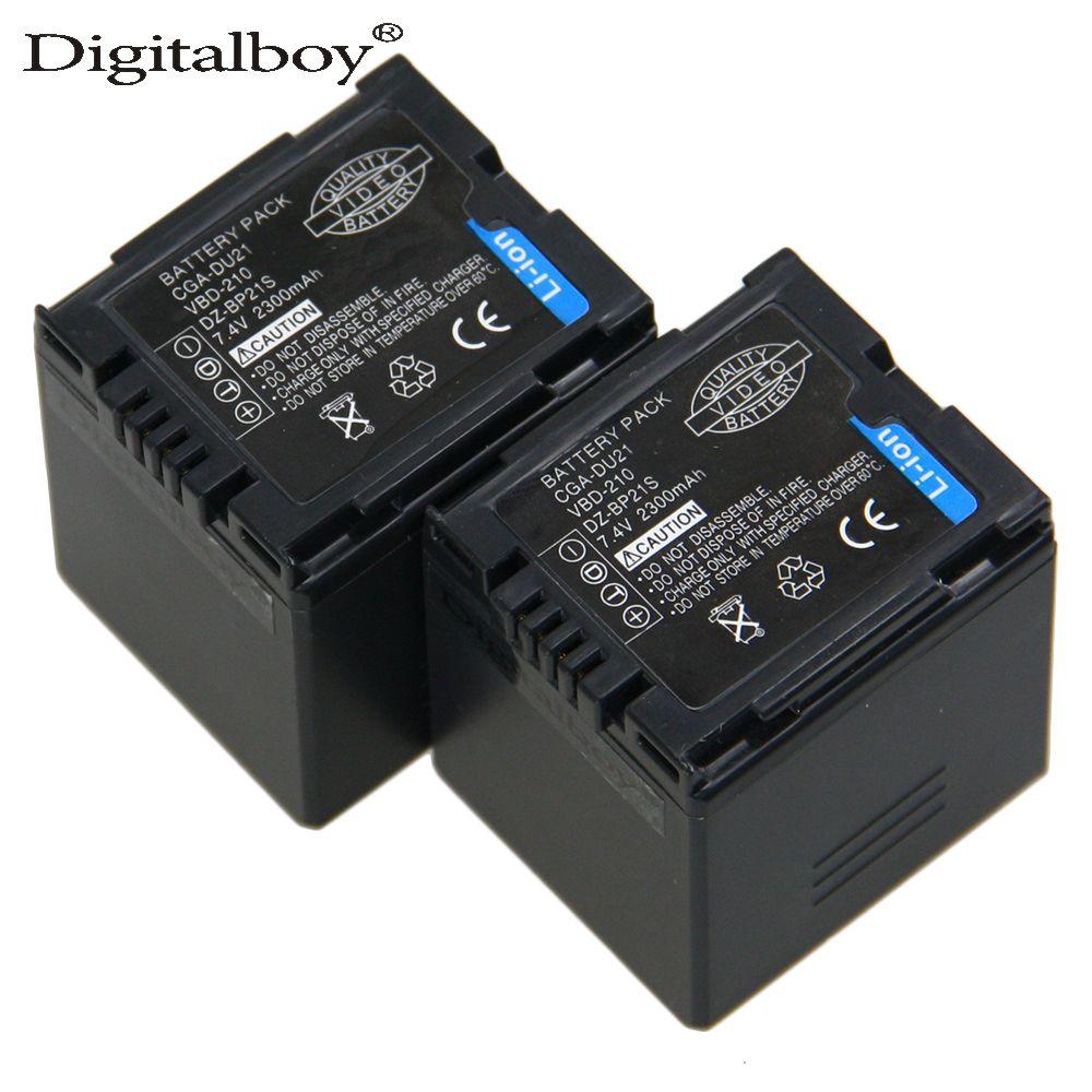 Haute Capacité 2 PCS CGA-DU21 CGA DU21 2300 mAh Batterie Pour Panasonic CGR-DU06 CGA-DU06 DU12 CGA-DU21 DZ-GX20 DZ-MV750 PV-GS35 z1