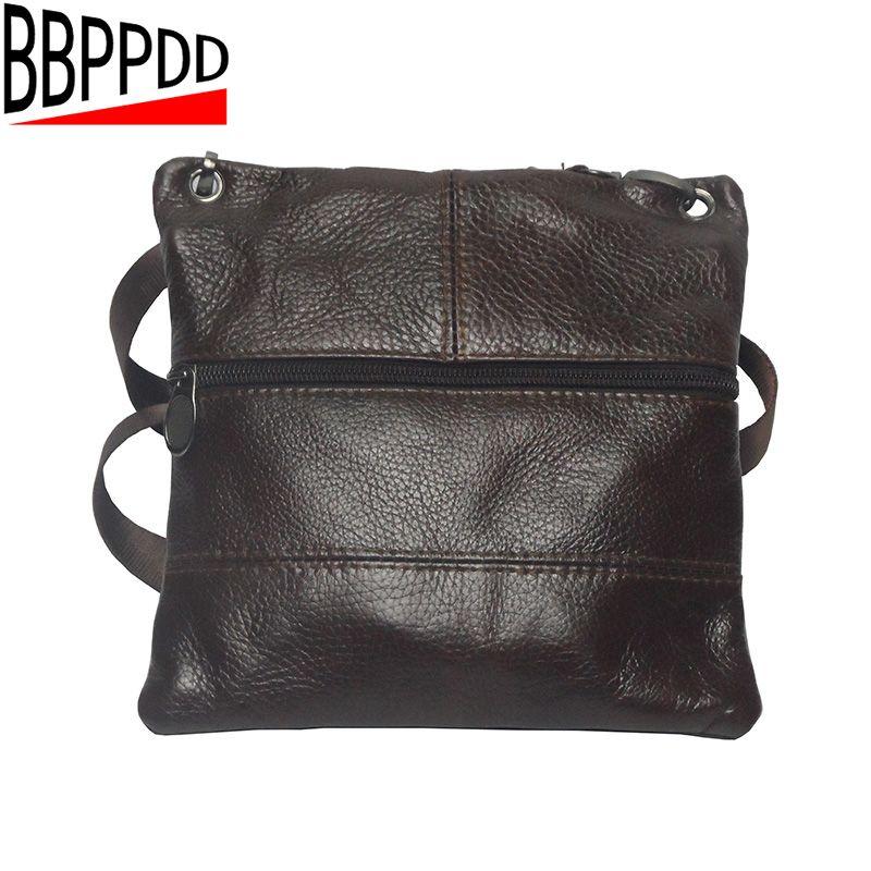 BBPPDD Vintage Men's Bag Shoulder Crossbody Bags For Men Genuine Messenger Bag Leather Small Male Brown 2018 Bolso <font><b>Hombre</b></font>