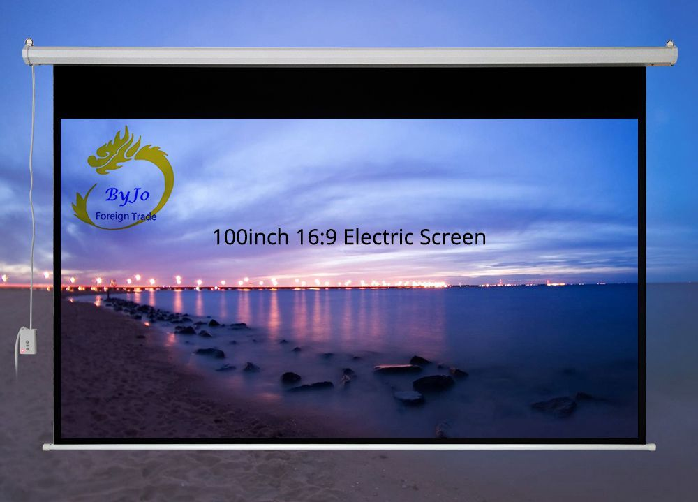 100 inch 16:9 or 4:3 Electric curtains Motorized Screen for All LED LCD DLP Laser Projector Electric Projector Screen