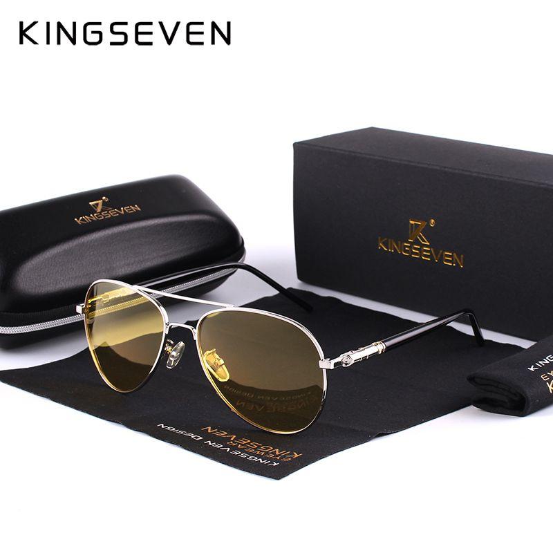 2018 Mens Polarized Night Driving Sunglasses Men Brand Designer Yellow Lens Night Vision Driving Glasses Goggles Reduce Glare