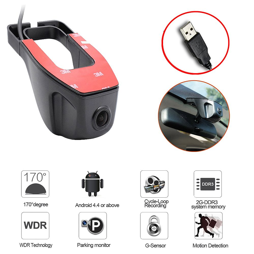 2018 New <font><b>adas</b></font> USB Car DVR Camera Driving Recorder HD 720P Video Recorder For Android 6.0 7.1 4.4 DVD GPS Player DVR Camera