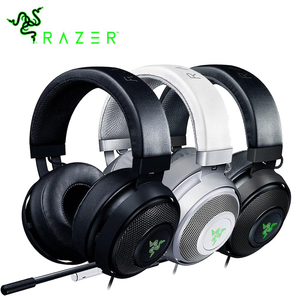Razer Kraken 7.1 Chroma V2 Virtual Surround Sound Headset with Digital Microphone Oval Ear Cups Chroma Lighting Gaming Headphone