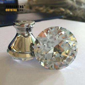 Modern Continental Simple Crystal Diamond handle small hole handle Hardware cabinet drawer wardrobe door put hand in hand SJ1006