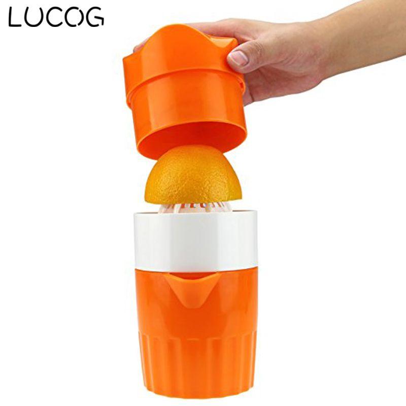 LUCOG Portable Manual Lemon Juicer Mini Fruit Hand Juice Bottle Fruits Squeezer Citrus Juicer