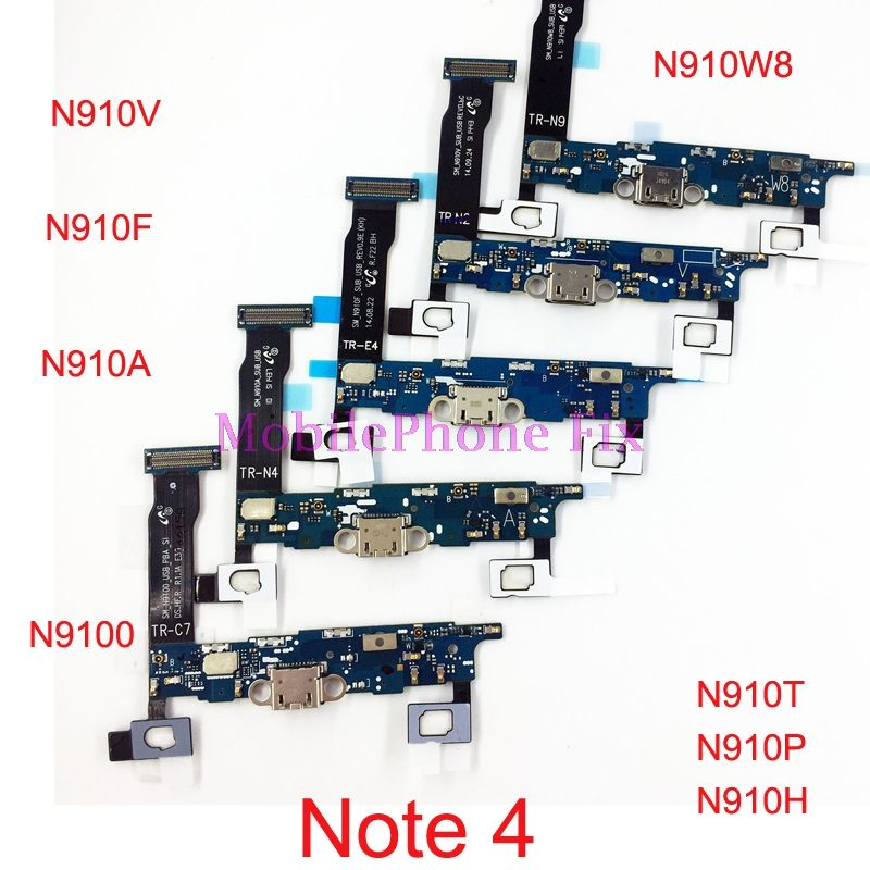 USB Charging Port Flex Cable For Samsung Galaxy Note 4 Note4 N910F N910A/T/V/P/H/R4/W8 Charger Dock Connector Flex Cable