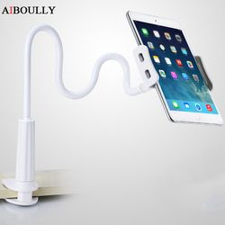AIBOULLY Universal Flexible Desktop Phone Tablet Stand Holder 3.5-10.5 inch Support For iPad Air Mini 1 2 3 4 Bracket
