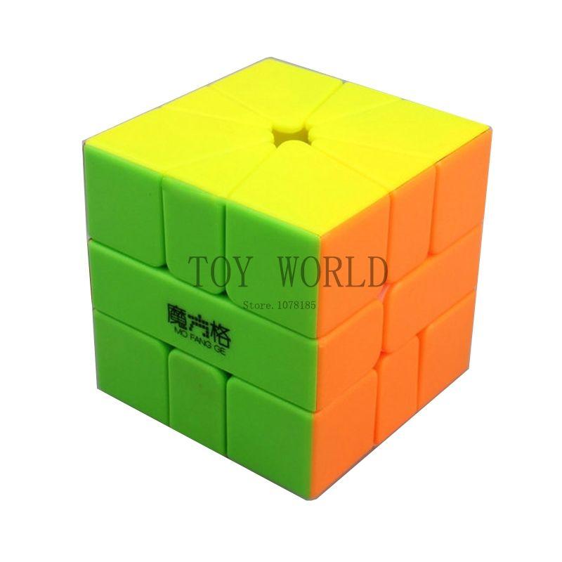 Qiyi mo Клык GE квадратный-1 Stickerless Magic Cube Qiyi кв-1 Скорость Куб Головоломка Cubo magico куб игрушки подарок