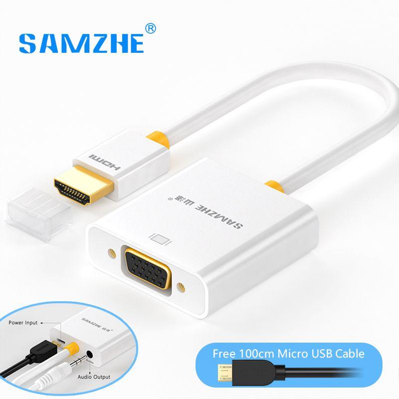 SAMZHE HDMI VGA Ада P тер конвертер 1080 P Аудио and видео кабель с Питание and аудио ou P UT для монитора PS3 PS4 Xbox