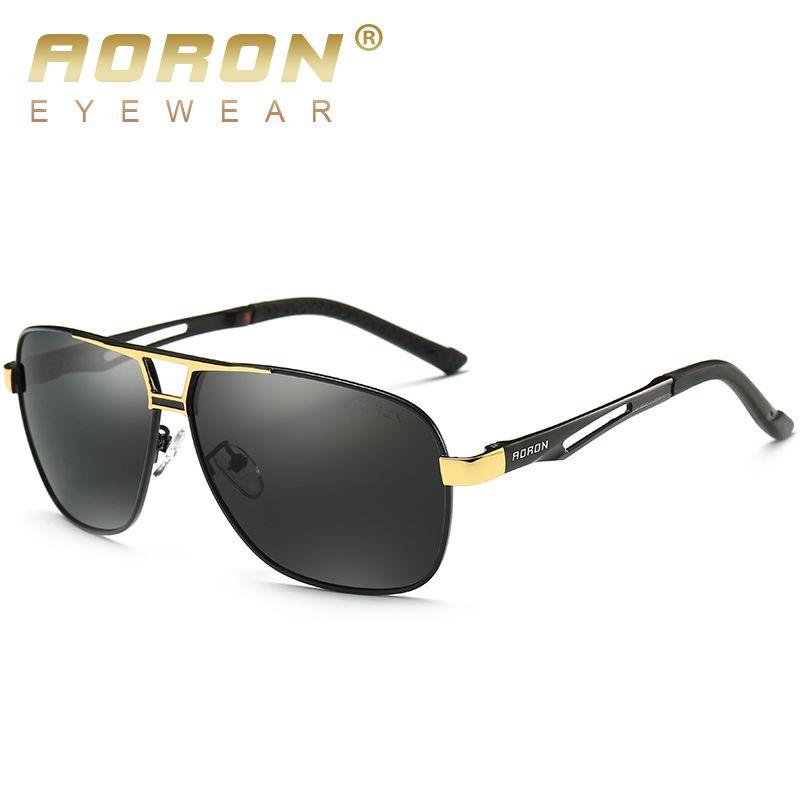 Lunettes de soleil homme AORON Polaroid lunettes de soleil homme Design luxe cadre aluminium magnésium lunettes de soleil Vintage Oculos de sol