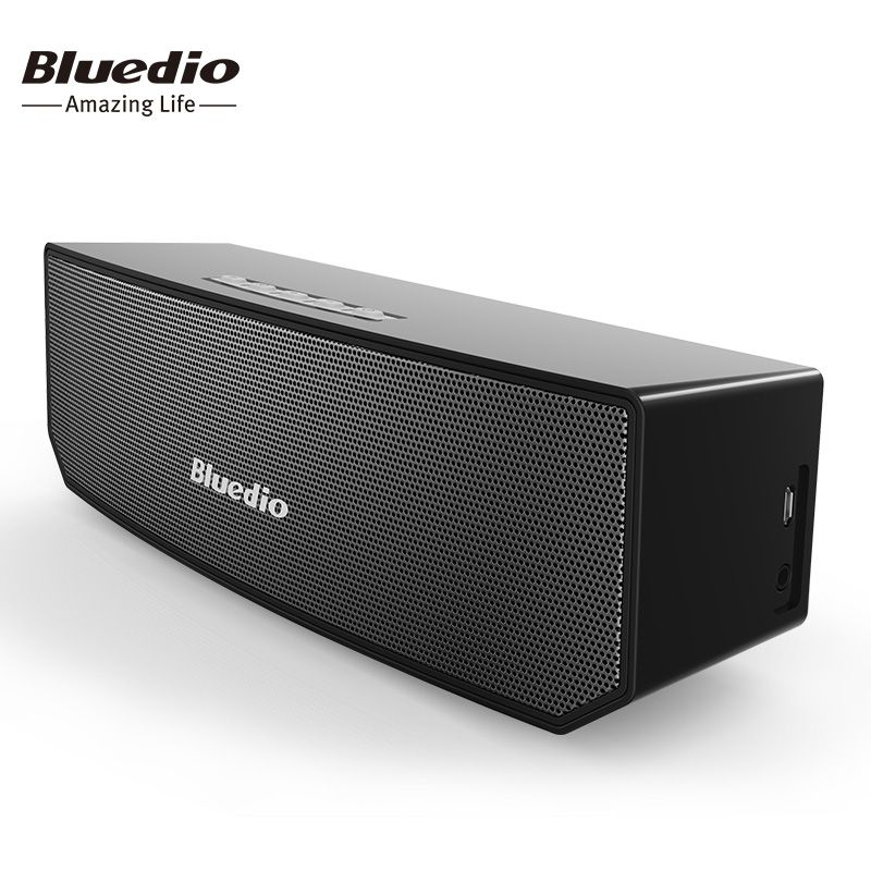 Bluedio BS-3 Original Mini Bluetooth Speaker Portable Dual Wireless Loudspeaker System with microphone for music and phone call