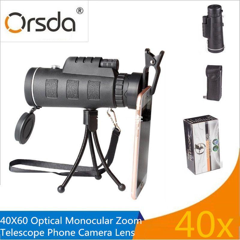 Orsda Universel 40X Zoom Optique Télescope Téléobjectif Téléphone Mobile Camera Lens Pour l'iphone Samsung LG Android Smartphones lentilles