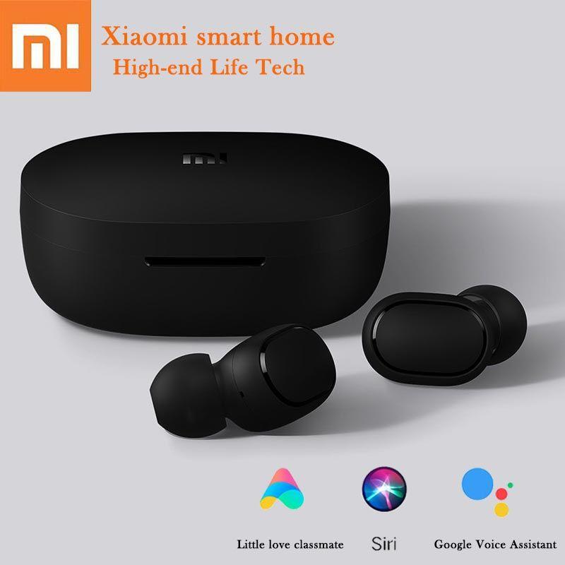 Écouteurs bluetooth sans fil Xiaomi Redmi AirDots contrôle de la langue prise d'oreille jumelage automatique mini casques contrôle intelligent