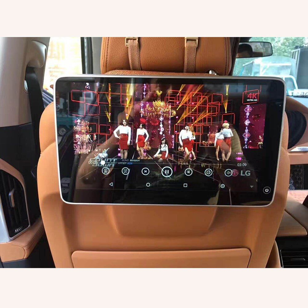 2018 UI Style Latest Product for BMW Rear Seat Entertainment Headrest Android 7.1 System with 11.6 inch Car Pillow Monitor 2PCS