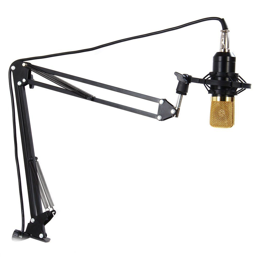 TGETH NB-35 extensible enregistrement Table de bureau trépied Microphone support de Microphone avec pince de montage de Table Clip