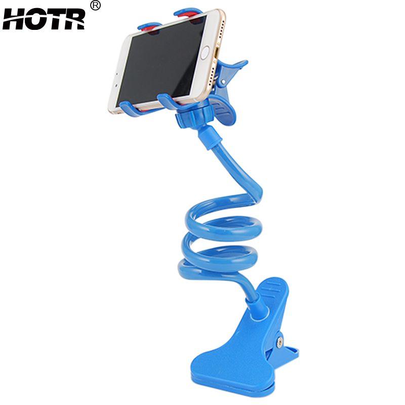 Universal lazy support de téléphone lit de bureau montage 360 bras flexible mobile téléphone stand support pour iphone 6 plus pour samsung