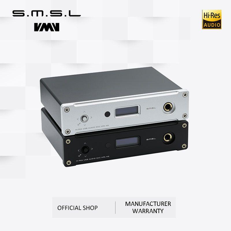 Neue SMSL M6 HALLO-FI DAC AK4452 Decoder Native DSD512 Amp Asynchrone Multifunktions mit 32bit/768kHz USB Optische Koaxial eingang