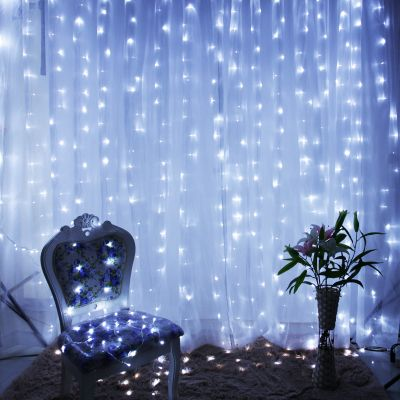 New Year Decoration Garland LED Christmas Lights Outdoor Garlands Cristmas LED Curtain String Lights Luces De Navidad 2x2m 220v