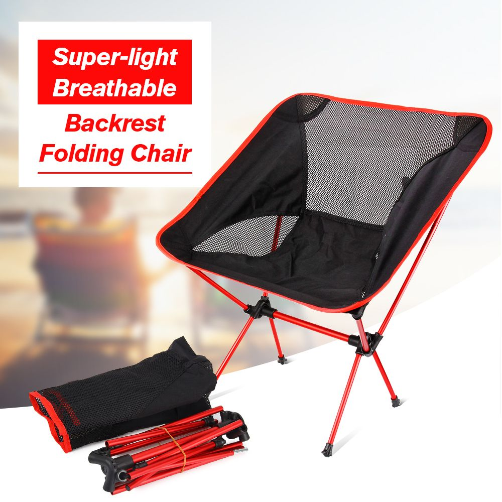 Portable Folding Chair Beach Seat Lightweight Seat For Hiking Fishing Picnic Barbecue For Vocation Casual Camping Fishing Orange