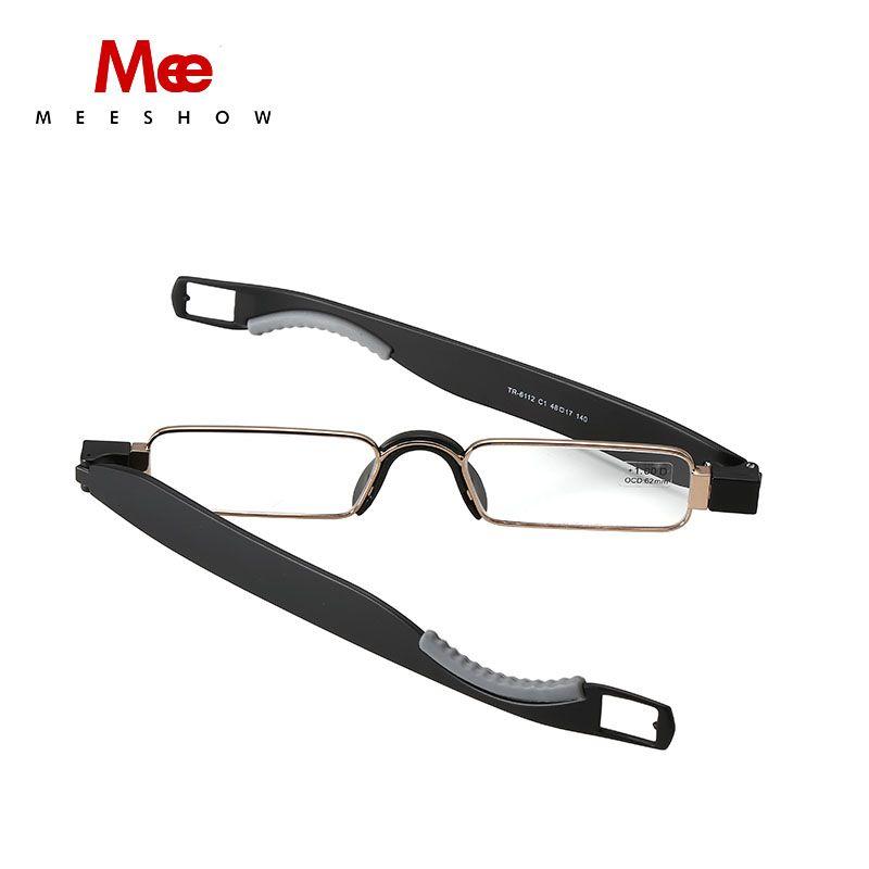 2019 pliage lunettes de lecture TR90 Résine Lentille homme femme acier inoxydable Lecture Lunettes 360 Flex + 1.0 ~ 3.5 cas inclus 6112