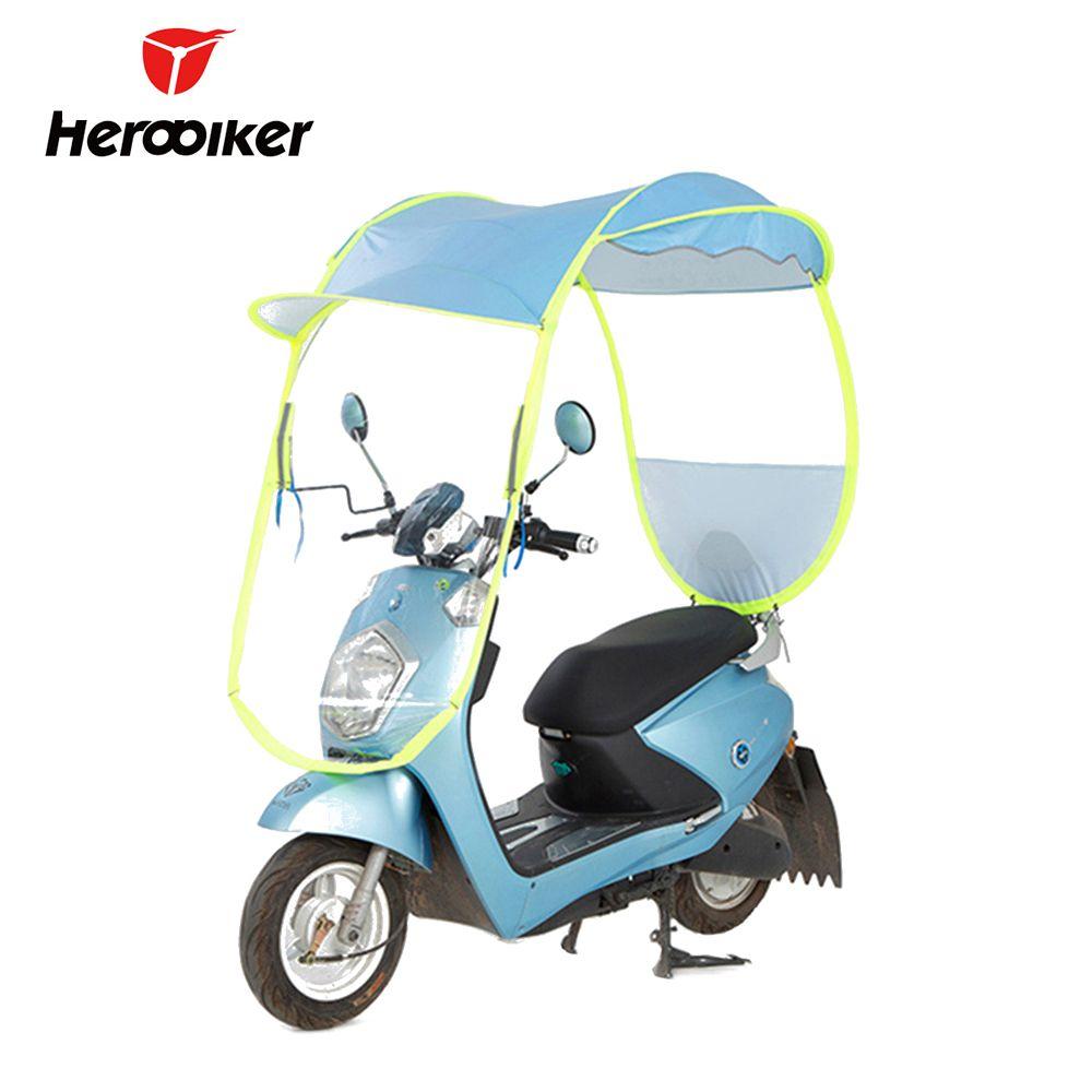 Electric Umbrella Motorcycle Canopy Motorbike Roof Motor Sun Visor Shade Tent Umbrella Windshield Motorcycle Cover Housse Moto
