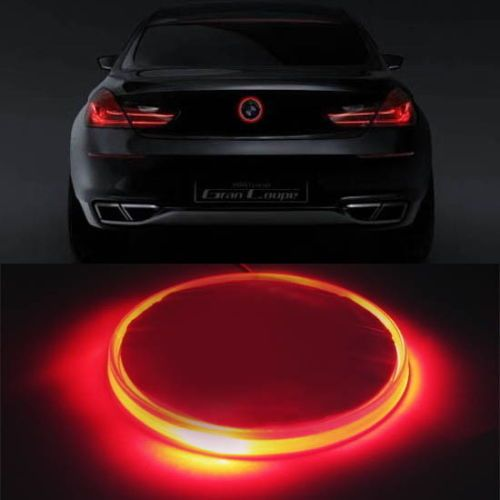 Envío Gratis 1 pc/lot car-styling Car Lámpara Led 82mm Rojo Brillante Emblema Luz de Fondo LED Para BMW 3 5 7 Series X3 X5 X6