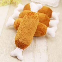Veludo quente Cat Dog Pet Pernas de Frango Brinquedos Som Interativo Brinquedos de Pelúcia Acessórios Do Cão de Peluche Pet Fornecimentos Brinquedo Do Cão de Pelúcia