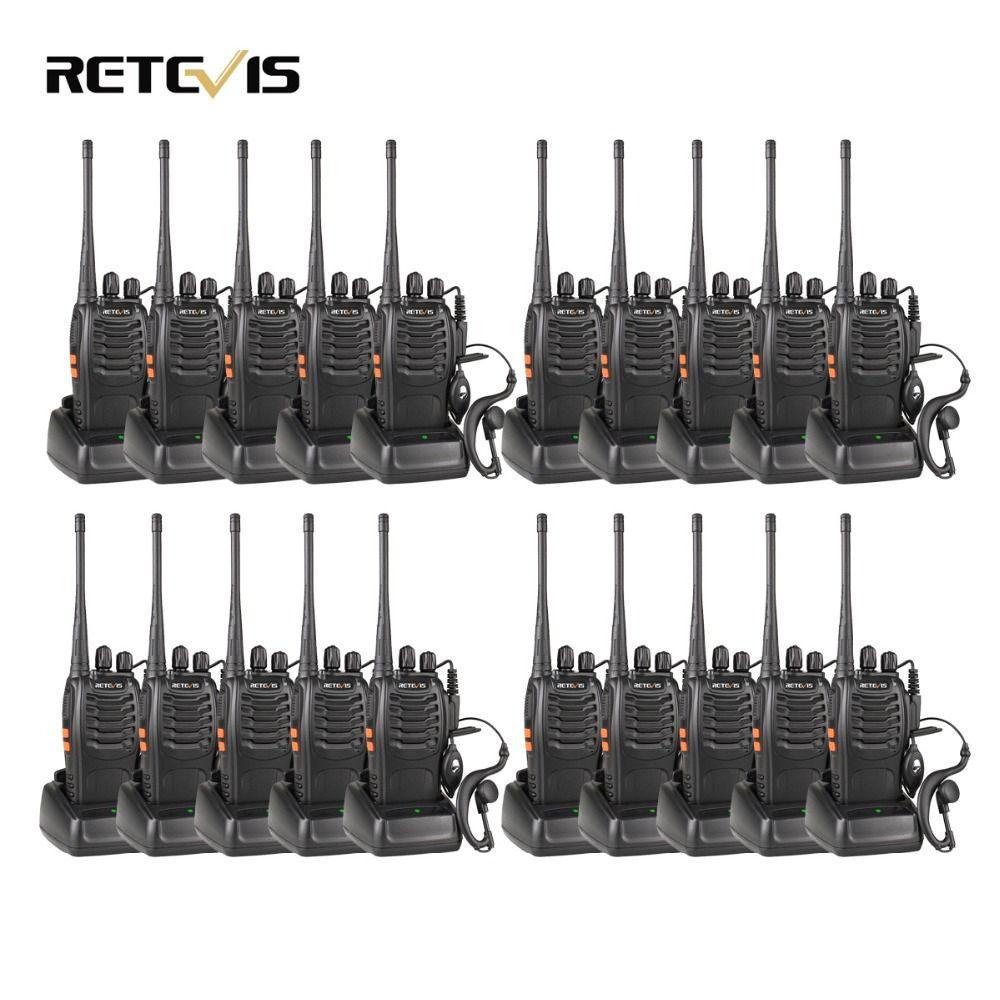 20 pcs Talkie Walkie Retevis H777 3 W UHF 400-470 MHz De Poche Radio Portable Ham Radio Hf émetteur-récepteur Communication Outil