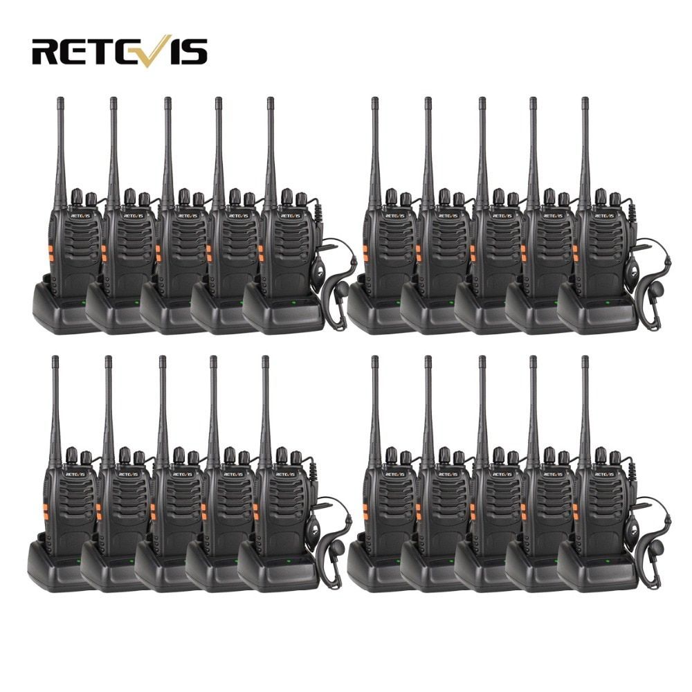 20pcs Walkie Talkie Retevis H777 3W UHF 400-470MHz Handheld Portable Radio Set Ham Radio Hf Transceiver Communication Tool