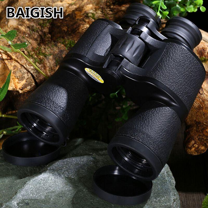 Russian Binoculars Baigish 20x50 Hd Powerful Military Binocular <font><b>High</b></font> Times Zoom Telescope Lll Night Vision For Hunting Camping