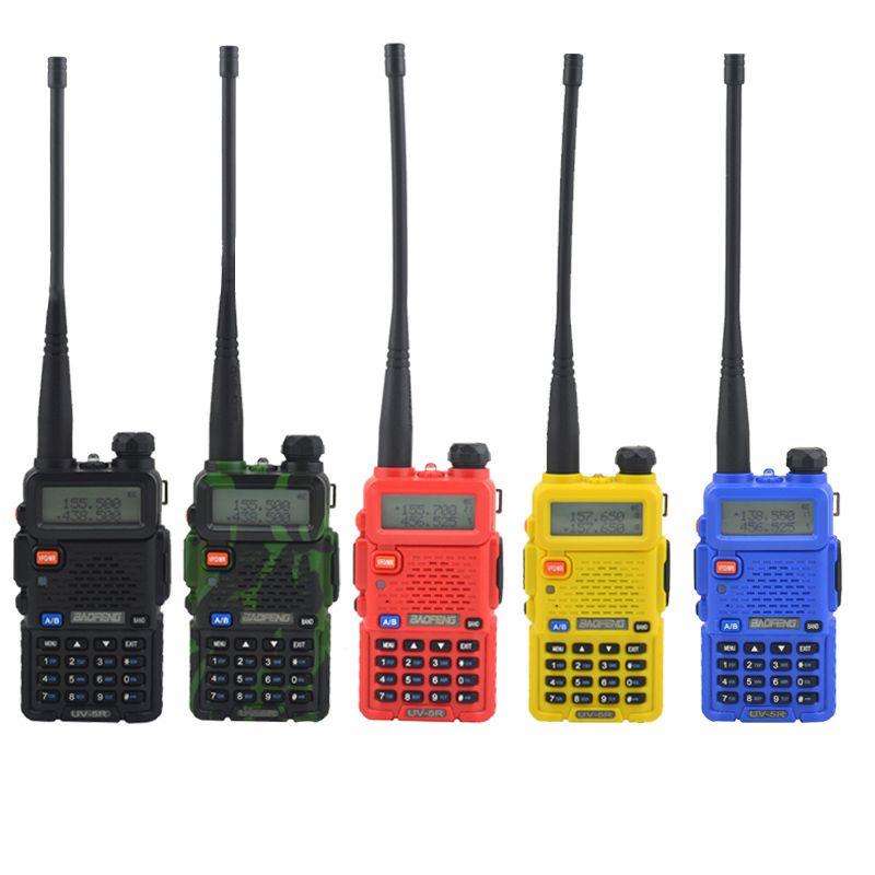 Baofeng talkie walkie uv-5r bi-bande à deux voies radio VHF/UHF 136-174 MHz et 400-520 MHz FM Émetteur-Récepteur Portable avec écouteur