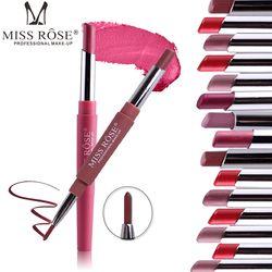 MISS ROSE 8 Colors Nude Matte Lipstick Lips Makeup Waterproof Long Lasting Multifunction Lip Stick Pencil Batom Beauty Cosmetics
