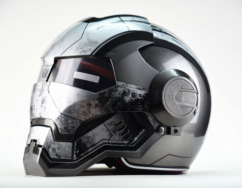Masei Guerre Machine Gris Hommes femmes IRONMAN Iron Man casque de moto casque demi casque open face casque ABS casque motocross