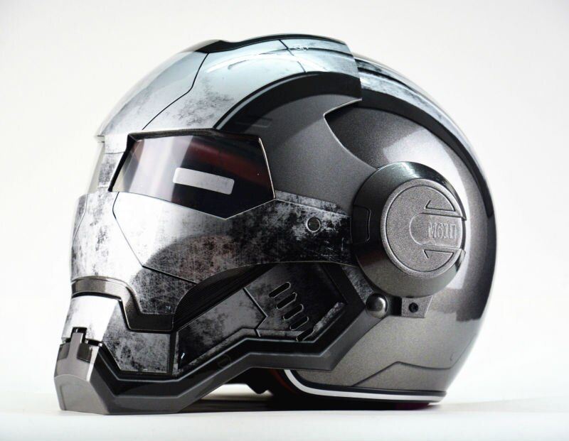 Masei guerre Machine gris hommes femmes IRONMAN fer homme casque moto casque demi casque visage ouvert casque ABS casque motocross
